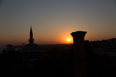 Sonnenuntergang über Istanbul